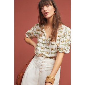 ANTHRPOLOGIE MAEVE BUTTERFY BLOUSE | Medium